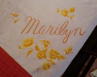 "Price reduced--  Silk scarf-"" Marilyn"""