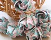 Origami Tiffany Colour Pattern Roses - Decorative  x 14