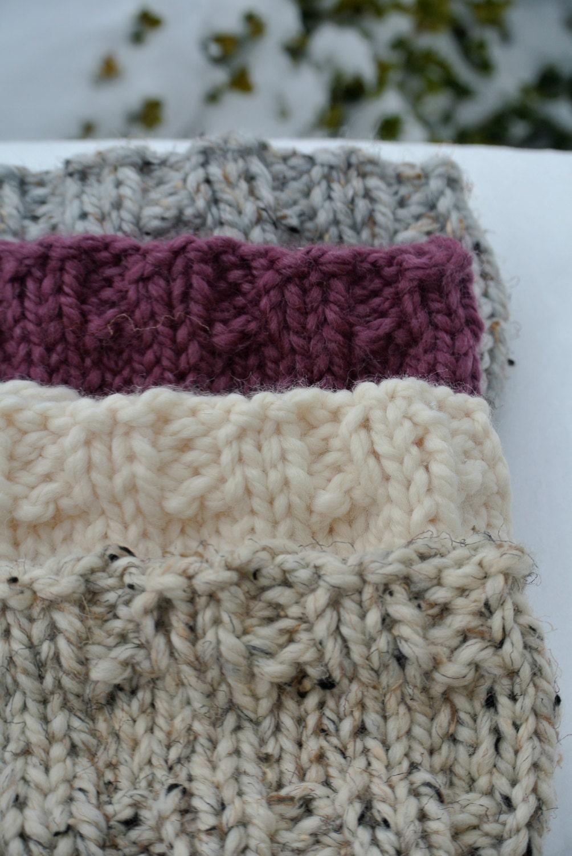 Winter Headband Knitting Pattern : Ribbed Knit Winter Headband