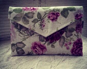 "MacBook AIR 13 inch sleeve, macbook case cover, laptop case with floral pattern, laptop  bag, envelope bag, Eco Friendly  - ""Envelope"""