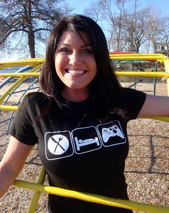 Eat Sleep Game T-Shirt Funny Video Games Geekery Geek Nerd Gamer Gaming Tech Games Tee Shirt Tshirt Mens Womens S-3XL Great Gift Idea