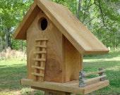 Rustic Cedar Barn Style Birdhouse