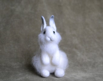 Rabbit....Felt toy Handmade Doll Soft Sculpture Needle Felted... I will make this item for your order