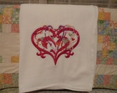 Spangled Heart Flour Sack Dish Towel