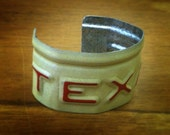 Texas License Plate Bracelets - Texas/Red