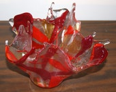 On Fire Fused Glass Vase