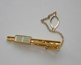 Vintage Tie Pin - Samsung Gold ToneTie Bar -  Retro Mens Accessories 1970s