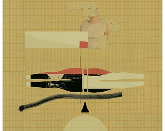 Abstract collage, Abstract composition 68