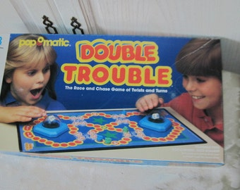 Double Trouble Miltion Bradley Game  1987 / Gift Idea / Childhood Memories /