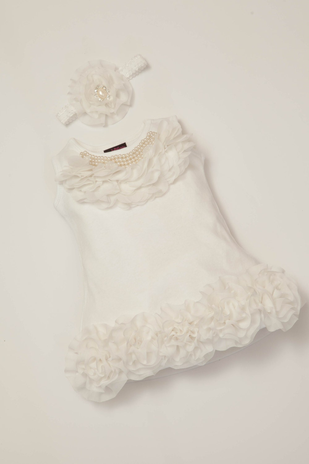 0-12ms Baby Girl Dress Cotton Infant White Dress with Chiffon