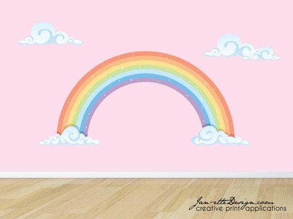Rainbow Wall Decal Pastel Rainbow Fabric Wall Sticker
