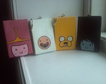 Adventure Time Painted Mini Tangle Keychains