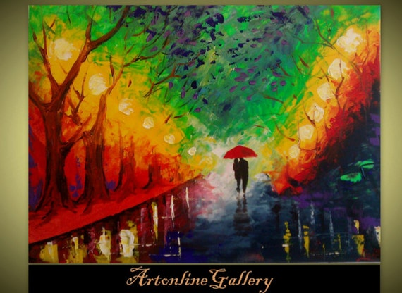 original abstract painting 60  off spring rain acrylic