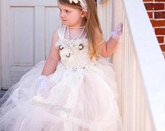 30% off bride flower girl TuTu dress, baby TuTu, girl TuTu dress perfect for pictures.