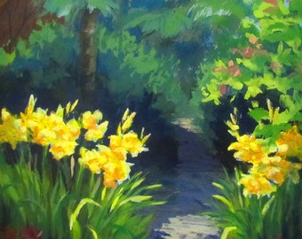 Discovery Gardens - Original floral Garden painting