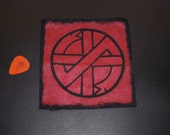 Crass Punk Patch (Red)