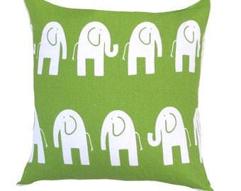 green pillow covergreen elephant pillowgreen ele pillow green pillows