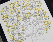 X-Large Thumbprint Tree Guest Book with Swing Detail (fits 220 and up thumbprints)