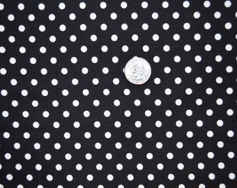Michael Miller fabric White DOTS on Black
