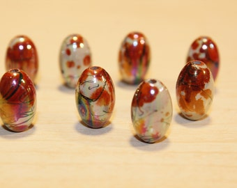 SALE 25pc Loose Bead-Glass Beads- Basketball wives earrings- Acrylic Beads-15mm