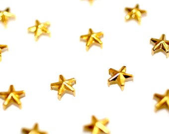 25pcs Star Gold Spikes-Stud Spacers -Rivet Spike- Clothing Spikes -Jewelry Spikes