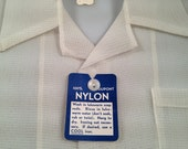 1950s Vintage Boy's SHEER and Textured  DuPont  NYLON Shirt Just Like Dads New Old Stock DEADSTOCK