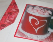photo card, Valentine's Day Photo card, heart mug, red and pink
