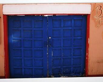 5x7 Blue Doors: southwestern, New Mexico, Santa Fe