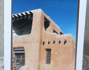 Photo Card: Southwest, adobe, New Mexico