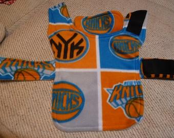 NY Knicks NBA Fleece Dog Coat  (Extra Small)