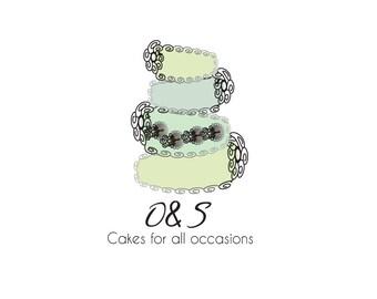 Custom Business Logo watermark OOAK Design - Branding Package includes 2 stationary items i.e. Banner, Avatar, Business Card