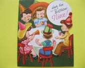 Vintage CHILREN'S PARTY Embossed Pop-Up Greeting Card from Pollyanna--ca 1940s/50s--A161