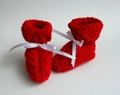 Girl Red Baby  Booties Infant Boy  Slippers 6 To 9 Months July 4th  Valentines Day Winter Clothing  Christmas Patriotic Holiday