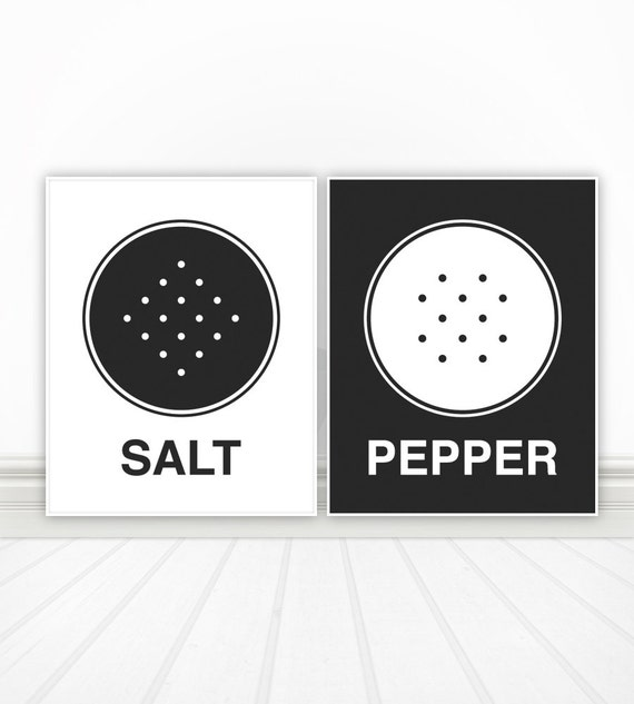 Salt pepper custom color kitchen wall art kitchen decor for Colorful kitchen wall art