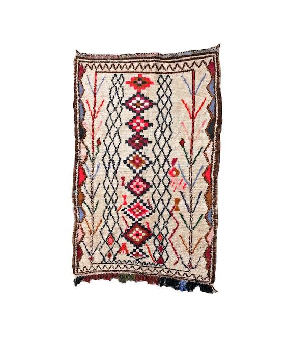 Maroc Tribal Rug: RESERVED. Moroccan Tribal Rug. Mid Century Modern Art