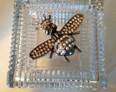 Couture Jeweled Crystal Box Embellished with a Crowned Queen Bee