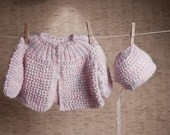 cardigan and hat set for baby girl