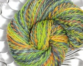 Reserved for Barbara - Handspun Yarn - Chameleon - Falkland wool, Heavy Worsted Weight, 142 yards
