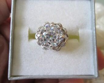 Old European Cut Edwardian Engagement Ring