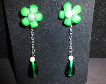 Good Luck Greenery - Post Drop Earrings