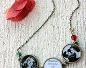 Handmade necklace with picture and song lyrics from Gilda movie