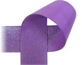 "Glitter Ribbon - 7/8"" Grape DAZZLE GROSGRAIN RIBBON - 5 Yards"