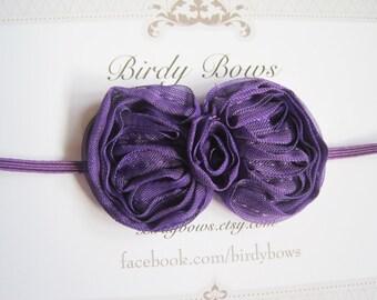 Purple Baby Bow Headband, Baby Headband, Infant Headbands, Baby Girl Headbands, Baby Bows, Infant Bows