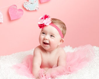 Valentines Headband, Baby Headbands, Baby Girl Headbands, Infant Headbands, Infant Bows, Baby Bows, Newborn Headbands