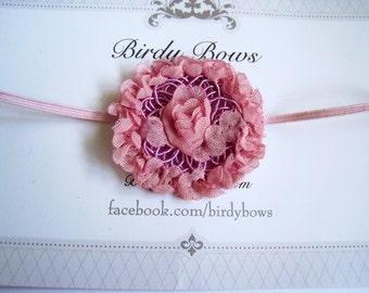 SALE, Pink Flower Headband, Baby Headbands, Newborn Headbands, Infant Headbands, Baby Girl Bow, Infant Hair Bow,