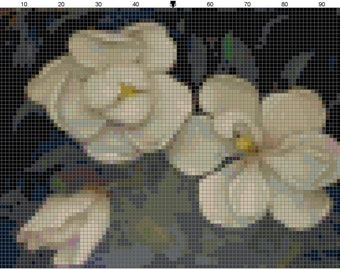 Magnolia Counted Cross Stitch