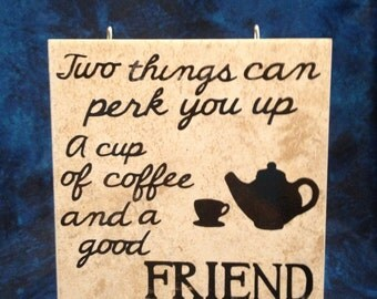 Friends and Coffee Tile