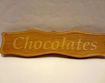 Dollhouse shop sign  CHOCOLATES