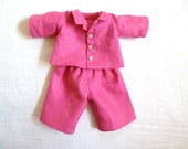 Linen Pajamas for 15 inch Waldorf Dolls - Made to Order