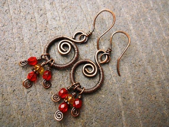 Celtic Peat Fire Earrings - Celtic Jewelry